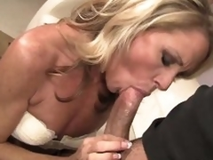 Worthwhile looking skinny blond MILF Nikki Charm takes sturdy rod in her mouth. But after rod sucking that babe uses her tongue to give enjoyment to her fuck buddy. That sweetheart licks his anus and that dude loves it so much.