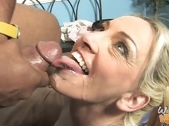 Cala Craves rides black pecker and takes load to face