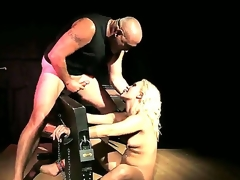 Blond smoky floozy Lilly Spider receive a harcore fast pounding in her tight round butt by a biggest throbbing shafted spades