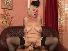 Grannyfucker puts his pecker in the Silas curly hole and receives enjoyment