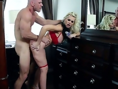 Hot MILF action with this beautiful golden-haired with big tits, and this built dude with a big hard cock. Staring Alena Croft and Johnny Sins. That honey is one hot momma who likes to take pecker betwixt her big fake tits, and then deep into her tight soaked pussy.