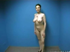 Hot and curvy amateur momma strips in front of the camera and shows her naked body in order to make guys lusty and gives head on her amateur porn movie scene