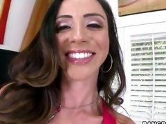 Smokin' hot Ariella Ferrera warms her muff up by having an orgasm in advance of the sh