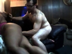 Guy Fucks Plump Darksome Mom...F70