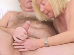 Unshaved Grand-dad with Wife