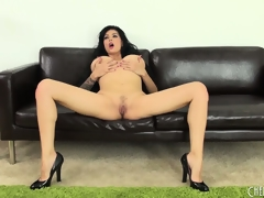 Tera Patrick bends over to show her mucky cunt and constricted white ass