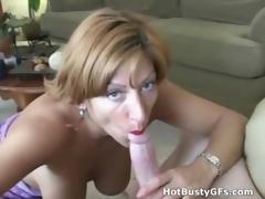 Amateur Bigtit MILF Sucking Horseshit