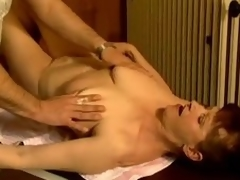 Adult slut Stephanie seduces a masseur and copulates him
