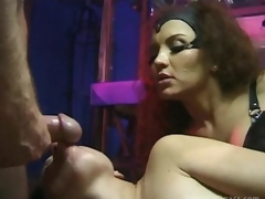 Busty Latin babe Mastix Bonks Her Sex Slaves Until Getting Facialized