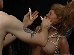 Pliant Golden-haired MILF Gets Tortured in a Sex Dungeon
